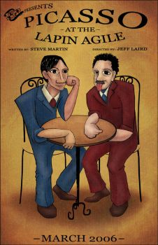 Picasso at the Lapin Agile by Sera-Keen