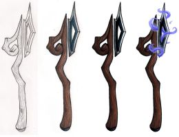 Poleaxe Staff Majigger by isisraven