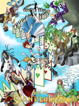 KH2 -- Axel in Wonderland by lady-obsessed