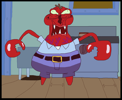 Mr. Krabs gets his face freeze in Help Wanted by ericgl1996