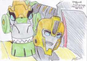 Grimlock and Bumblebee (RID2015) by DarkAudi1728