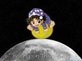 Rolling on The Moon by saint-vivant