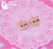 Cookie baby bears Earrings by CuteMoonbunny
