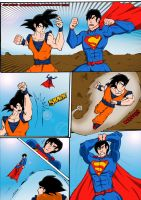 Goku vs superman the ultimate battle (1 of 4) by ultimatejulio