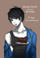 Bloody Paintre 17th Birthday(1st anniversary) by DeluCat