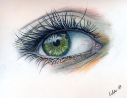 Polychromos Eye by Boerni1