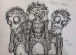 The Three Monkeys by NightmareKing666