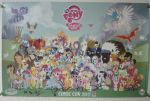 My Little Pony Comic-Con 2011 Poster SIGNED by Closer-To-The-Sun