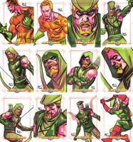 JLA Cards set 2 by ronsalas