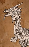 Ink dragon II by Nimphradora