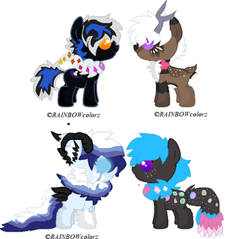 sudden foal adoptables by Kyah-Pony-Adoptables
