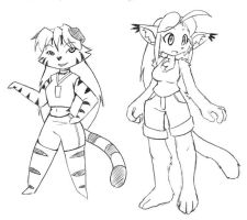 """Furry Yuki and Kimi in """"Cats can't dance&quot by freelancemanga"""