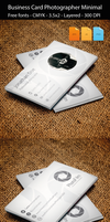 Business Card Photographer Minimal by artgh