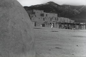 Taos pueblo-black and white by Photogenetic