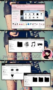 I love color Black theme iconpackager by k1000adesign