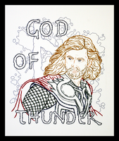 Thor Odinson Embroidery by padfootb3