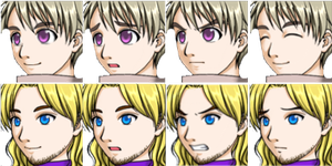 HetaOni II Face Graphics: Russia and France by Rin1997Katy