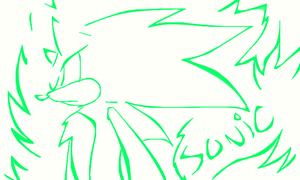 Green sonic doodle o3o by sonicxamylover