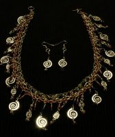 Spirals and Chain by JANunnoArt