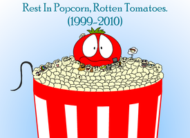 Popcorn covered in ketchup by Maxtaro