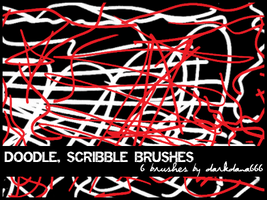 Doodle, scribble brushes by darkdana666