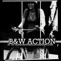 BW Action by glamorousart