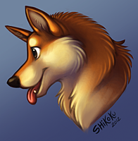 Shiba Bust by bawky