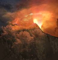 Vocano Background by mysticmorning