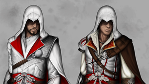 Ezio - through the ages by itchcrotch