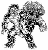 i got your tail Raw Inks by kaijuverse