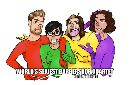 World's Sexiest BarberShop Quartet (GMM x GG) by MariaMediaHere