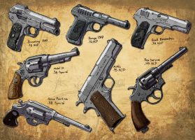 Ranch Hand Pistols by Hoborginc