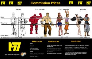Commission prices by Momentum7