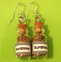 Bottles Of Sunshine Earrings by yobanda