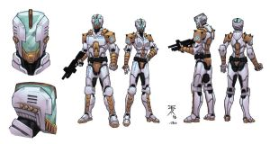 Trinity Troops modelsheet colored by Kaemgen