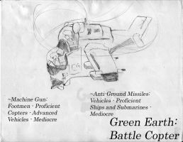 Green Earth Battle Copter:AWDS by Naotachai