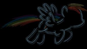 Rainbow Dash Sketchy Wallpaper by RainbowRage12