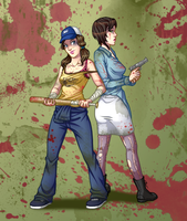 L4D2: Ellie and Nicola by MidoriEyes