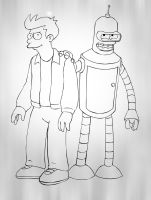 Futurama Fry and Bender by dada0016