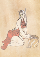 Adoptable: The Water Bearer by SketchyBailey