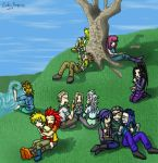 Organization XIII on a picnic by Lord-Evell
