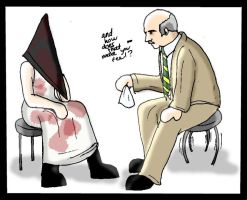 Pyramid head and Dr. Phil by Sukkahousu
