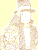 Tegaki - Layton and Luke by escape-emotion