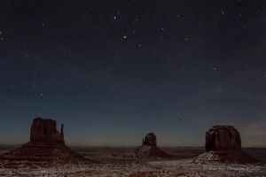 Night Skies in Monument Valley by Mac-Wiz