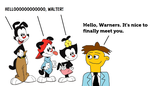 The Warners Meeting Walter from The Muppets by MikeEddyAdmirer89