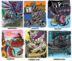 Colossal Kaiju Combat SPN 2 Trading Card Samples 3 by fbwash