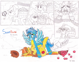 .MLP: Soarburn comic .The encounter. by Kikuri-Tan