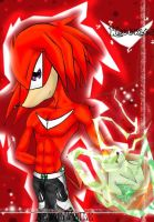 Knuckles with Emerald by LilDude