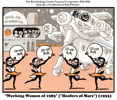 'Working Women of 1983' ('Hoofers of Mars') cel by KenFletcher