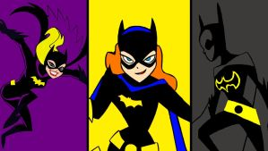 The three Batgirls animated by bat123spider
